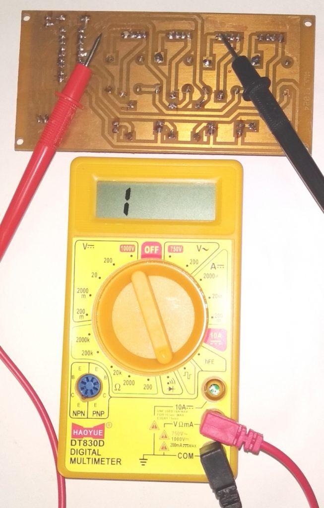 Testing of PCB, Multimeter and PCB, Printed circuit board