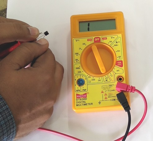 Transistor Testing with multimeter