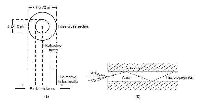 Single mode step index fiber