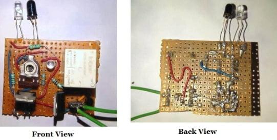 Automatic Sanitizer Dispenser Machine Front & Back View