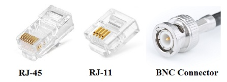 Connectors, RJ11, RJ45, BNC Connector