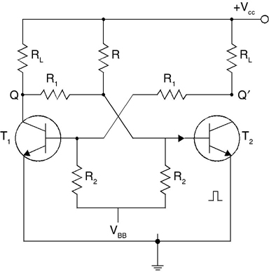 Circuit of bistable multivibrator