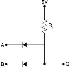 Diode logic AND gate