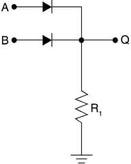 Diode logic OR gate