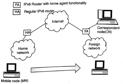 Mobile IP routing operation