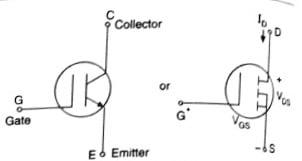 Insulated gate bipolar transistor symbols,